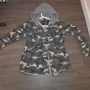 H&M camo jacket. Cotton/khaki